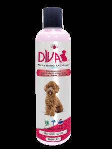 Sữa tắm chó mèo dưỡng ẩm khử mùi DIVA Hồng 260 ml