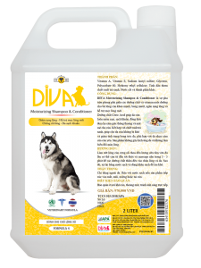 Sữa tắm chó mèo dưỡng lông chống rối DIVA Vàng 2 lít