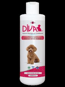 Sữa tắm chó mèo dưỡng ẩm khử mùi DIVA Hồng 400 ml