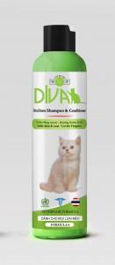 Sữa tắm mèo Kitten Gel DIVA 6 - Xanh lá 260 ml
