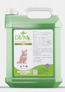 Sữa tắm mèo Kitten Gel DIVA 6 - Xanh lá 2 lít