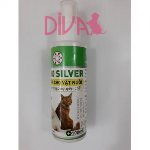 Nano Silver 15ppm khử mùi diệt khuẩn cho chó mèo 100 ml